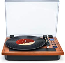 Turntable Vinyl Record Player Support Wireless in & Out Record Player Built in Stereo Speakers Turntable Vinyl Records 3 Speed Turntable Player Support Vinyl-to-MP3 Record