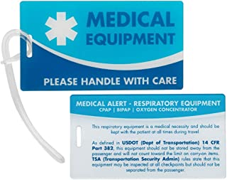 Medical Equipment ID Identification Luggage Tags | Medical Alert | Carry-On Respiratory Devices