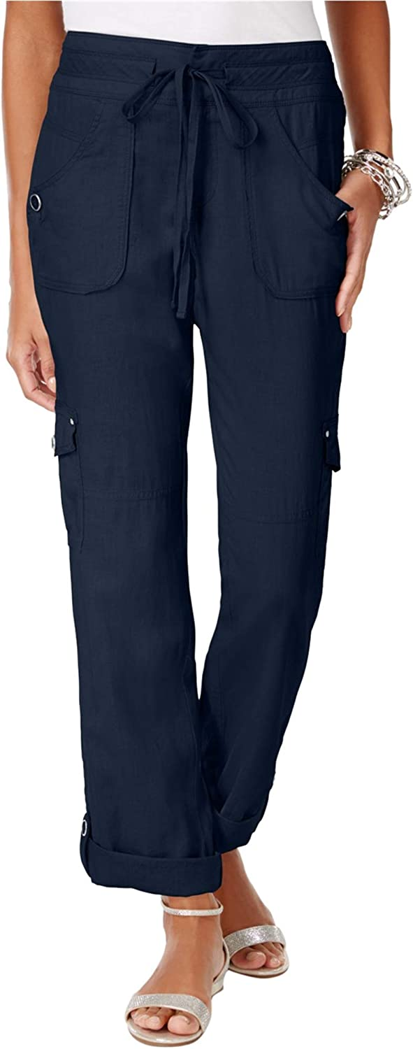 INC Womens RollTab Casual Cargo Pants