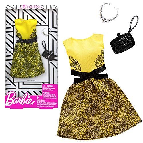 Barbie Vestido de Coctel Amarillo Mattel FXJ08   Moda Ropa de la Muñeca