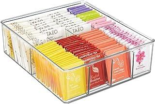 mDesign Boite de Rangement empilable – Panier de Rangement en Plastique à 8 Compartiments pour la Cuisine –Rangement de Cu...