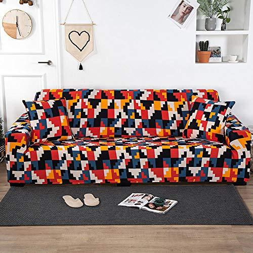 B/H Funda de sofá elástica antiarañazos,Fundas de sofá de Tela Gruesa para Sala de Estar Fundas elásticas Protector-90-140cm,Estiramiento Sofá Protección Sofá Cubierta