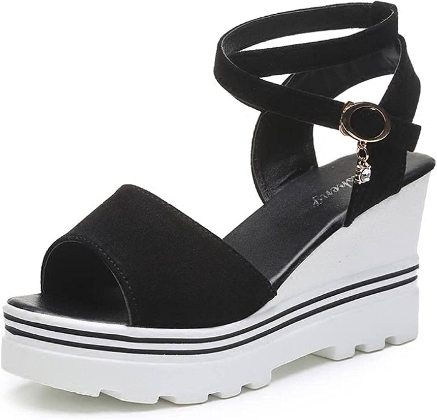 Woman Industry No. 1 Wedge Heel Sandals Bombing new work Party Comfy Strap Casual Cross Ankle Sk