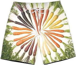 XIELH Shorts Summer 3D Printed Beach Pants Home Plus Size Loose Pants 3D Fruit Print Beach Shorts