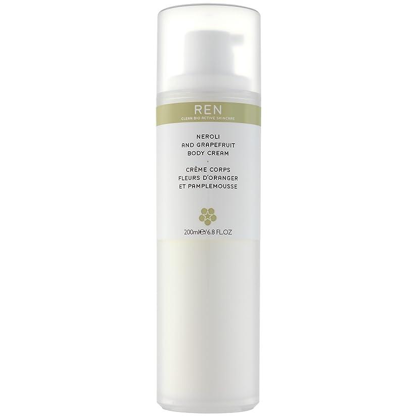 理容室排泄物ジェットRenネロリとグレープフルーツボディクリーム200ミリリットル (REN) (x6) - REN Neroli and Grapefruit Body Cream 200ml (Pack of 6) [並行輸入品]