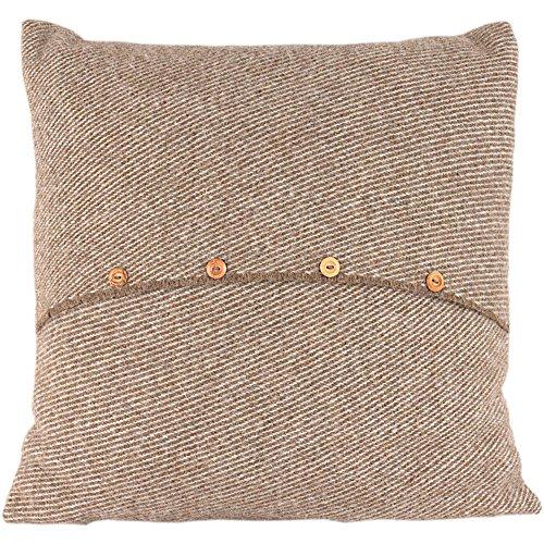 Romney Marsh fanmai cojín - Fern, 100% lana, marrón, 60 x 60 cm
