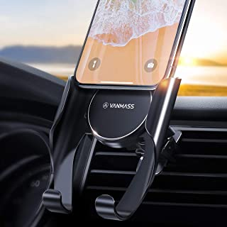 VANMASS Car Phone Holder,【Automatic Memory Function】 Upgraded Universal Air Vent Phone Holder for Car,0.5s Slide in&Out Ce...