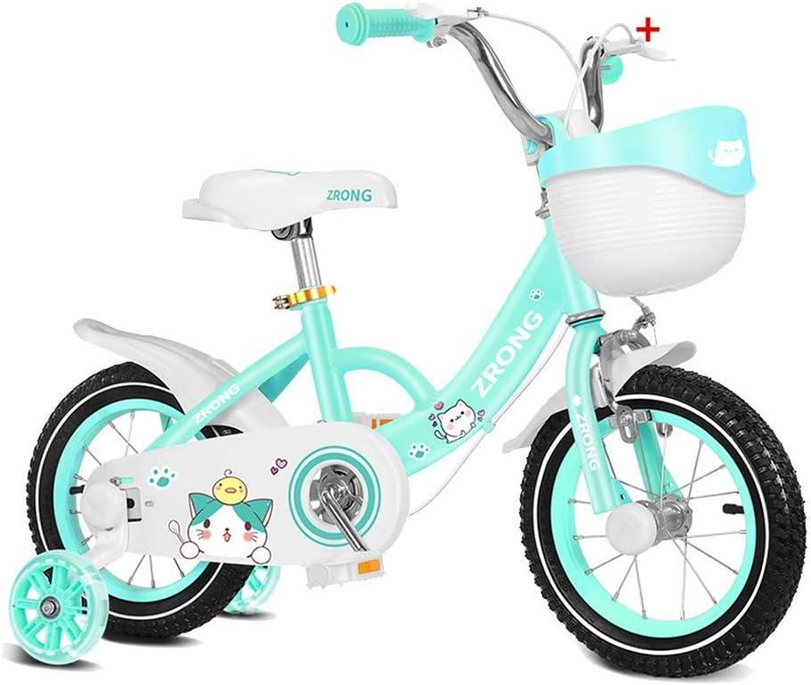 Bicicletas para ni/ños con rueda de entrenamiento Bicicleta para ni/ños d QULONG Bicicleta para ni/ños a prueba de golpes 14//12//16//18 pulgadas Bicicletas para ni/ños Marco ligero de aleaci/ón de aluminio