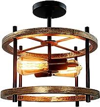 Jingf Hanglamp, industrieel design, plafondlamp, vintage, plafondlamp, lampenkap van metaal, voor restaurant, woonkamer, s...