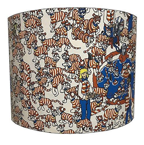 20,3 cm où est Charlie pour Enfant Design Abat-Jour pour Une Lampe de Table, 25,4 cm