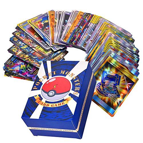 Pokemon-Karte 120 Stücke, Pokemon-Spielkarte für Kinder Englisch Flash Card Lernspielzeug für die Entwicklung der Denkfähigkeit Pokémon Pet Elf Team Up Game Card, Fähigkeiten für Kinder entwickeln