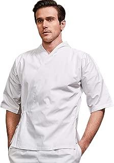 Chef's Japanese Kimono Unisex Uniform Short Sleeved Working Clothes Kitchen Restaurant Chef Jacket