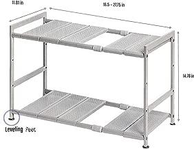 Seville Classics 1193822 Costco Storage Organizer, 15x12x2.5, Nickel