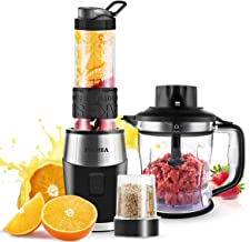 FOCHEA 3 In 1 Blender and Food Processor Combo,Smoothie Shake Blender