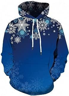 iZHH Men Ugly Christmas Sweater Hoodie Pocket Sweatshirt Tops Blouse Jacket Coat