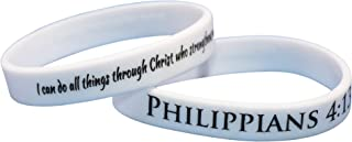 Reminderband - Philippians 4:13 100% Silicone Wristband - Silicone Rubber Bracelet - Christian Religious Events, Gifts, Motivation, Support, Causes, Fundraisers, Awareness - Men, Women, Kids