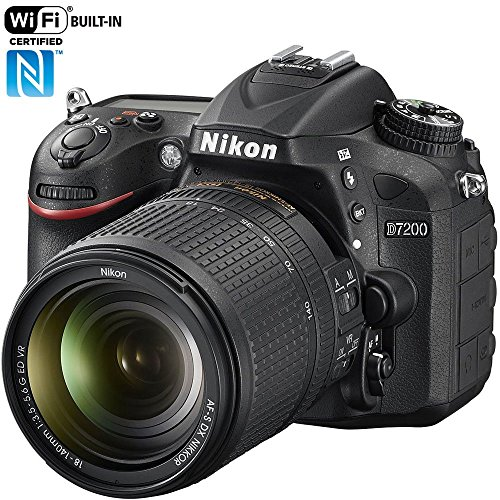 Nikon D7200 24.2 MP DX-Format Digital SLR Camera with 18-140mm VR Lens (Black)(Renewed)