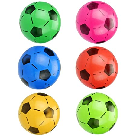 Park School and Parties Soft Lightweight SourceDIY PVC Plastic Shoot Soccer Football suitable for Indoor Outdoor Play Beach Birthday Home Yellow