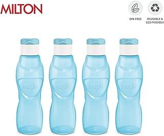 MILTON Ace Flip Lid Sports Water Bottle BPA Free Leak Proof & Reusable 4 Piece Set, 33 oz (Blue)