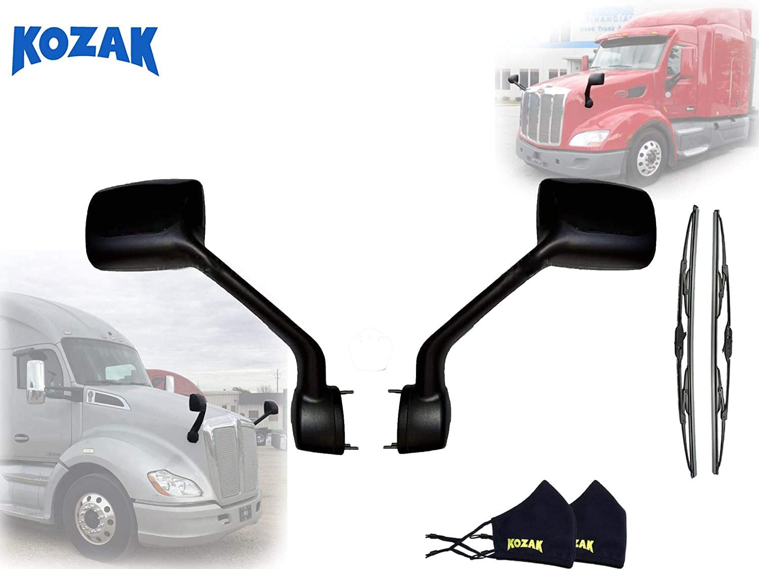 BLACK Hood Mirror Pair Set Left Side Passenger Right and Washington Mall Driver Max 57% OFF