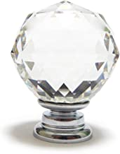 Quyi 16 stks Crystal Knopen, 40 mm Deurknoppen Diamant Vorm Ontwerp Kristal Glas Knoppen Kast Lade Trek Keuken Kast Deur G...