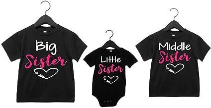 3 Sister Shirts Big Middle Little Sister Set of 3 Matching Sister Shirts