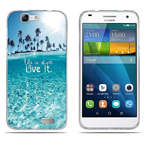 DIKAS Funda para Huawei Ascend G7 (L01 L03 C199) Carcasa de Silicona Transparente TPU, Protectora Case Bumper Flexible de Goma de Altisima Calidad para Huawei Ascend G7 (L01 L03 C199)- pic: 05