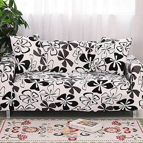 Funda de sofá gris Fundas para muebles elásticas Fundas de sofá elásticas para sala de estar Funda de asiento con funda deslizante funda de asiento de spandex sofá de 1-4 plazas, color 16,4-plazas (2