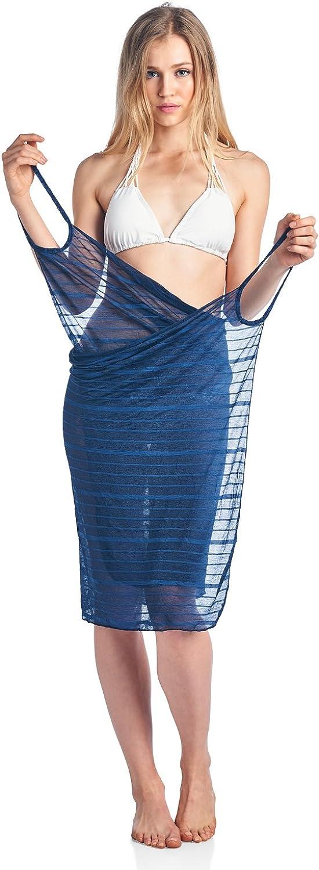 Casual Nights Women's Bikini Cover Ups Wrap Backless Strap Beach Summer Dress