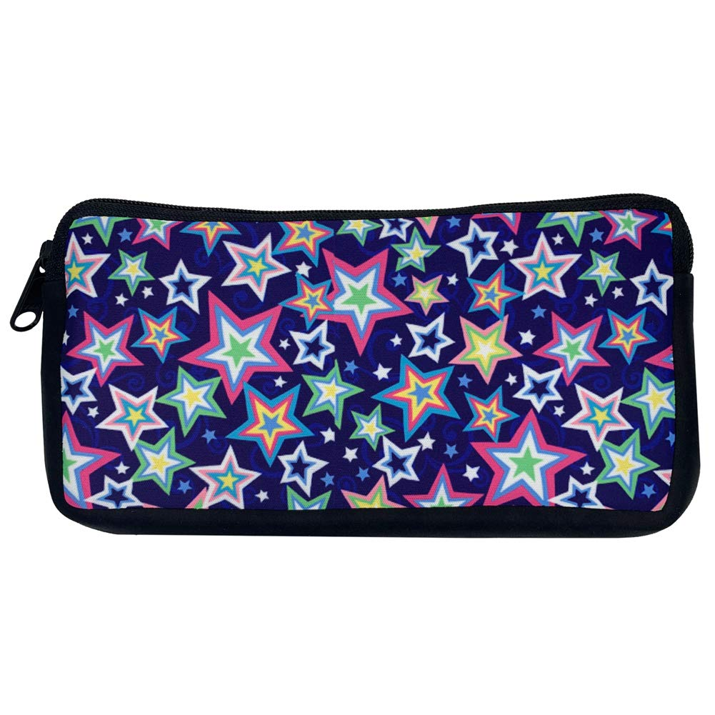 Magical Stars Purple Sales Cosmetic Makeup 55% OFF Zippered Case Pencil Po Bag