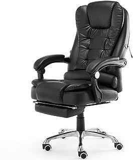 Computer Office Chair De Jeu Home Cuir Cuir Swivel Gamer Chaise De Levage Fauteuil Pivotant Femme De Repose-Pied