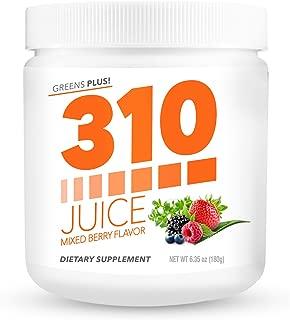 Green Superfood Organic Powder | 310 Juice Mixed Berry | Daily Organic Superfood Powder and Cleanse with Probiotics | Boosts Metabolism | Improves Memory | Natural Juice Cleanse