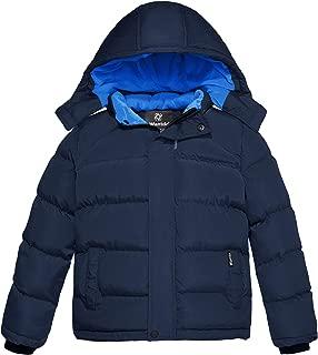 Wantdo Boy's Padded Winter Coat Thicken Warm Jacket with Detachable Hood
