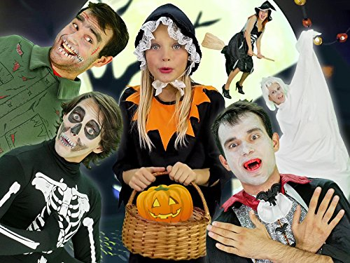 Halloween Pumpkin - Baby Song Finger Family with Zombie, Ghost and Vampire