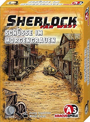 ABACUSSPIELE 48205 - Sherlock Far West - Schüsse im Morgengrauen, Krimi Kartenspiel