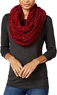 Charter Club Womens Chenille Colorblock Infinity Scarf Red O/S