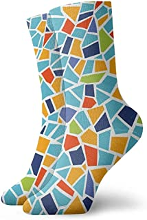 Kevin-Shop, Mosaico Patern Moda Calcetines Suaves Medias 1 par