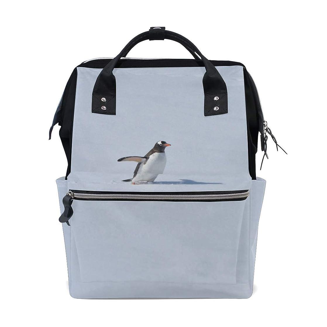 Backpack Snow Penguins School Rucksack Diaper Bags Travel Shoulder Large Capacity Bookbag for Women Men bvcssccw88339