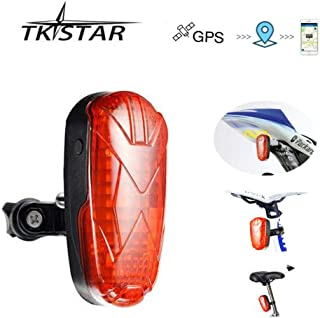 TKSTAR GPS Tracker Designed for Bicycle Small Vehicles Hidden Real-time Track Long Standby SIM Card GPS GSM GPRS Tracking Devices with LED Tail Light Lifetime Free Platform - TK906