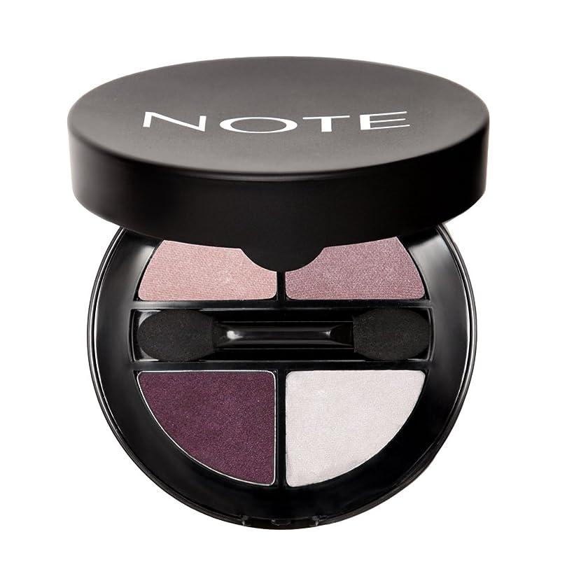 好意的ポルノであるNOTE Cosmetics ルミナスシルククアトロアイシャドウ、1.1オンス 第04