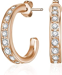 Mestige Rose Gold Matilda Earrings with Swarovski Crystals
