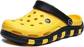 YTWD Mens Clogs Sandals Summer Non-slip EVA Garden Mules Beach Flat Male Slippers