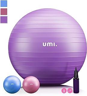 UMI. by Amazon -Pelota de Ejercicio Gym Ball para Fitness, Yoga, Pilates, Embarazo y Sentarse, Talla M L XL (48-75cm)