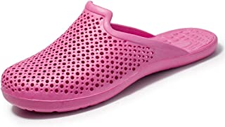 Water Clogs Shoes for Men Unisex Perforated Slippers Outside Beach Shower Slip On Light-Weight Cycle Head Anti-Slip Simple business, stylish and casual everyday (Color : Pink, Size : 39 EU)