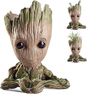 منظم المكتب من Creamfeed Baby Groot Succulent Guardians of The Galaxy ، Bundance Spubity Heart shape Groot Flower Pot Best...