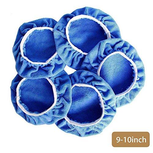 Zreal 5 Pcs 5–15,2 cm 7–20,3 cm 9–25,4 cm en Microfibre épilation à la Cire de Polissage de Voiture polisseuse Bonnet Polissage Pad Coque