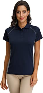 MOHEEN Women's Moisture Wicking Athletic Golf Polo Shirts Dry-Fit Short Sleeve Tops & Tees in Size S-3XL