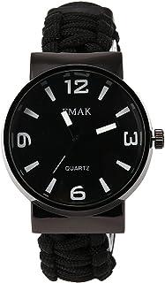 RaiFu 腕時計 ブレスレット パラシュート コンパス フリント アウトドア