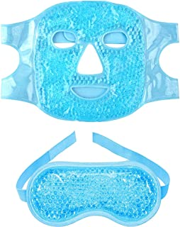 2pcs Gel Beads Face & Eye Masks Kit Hot/Cold Mask Cooling Ice/Heat Facial Eye Pack Therapy