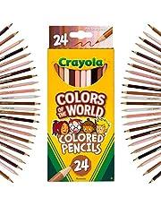 Crayola - Colours of The World - Lot de 24 crayons de couleur assortis pour représenter la couleur de la peau des personnes de tout le monde, 68-4607